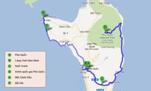 Bản đồ du lịch Phú Quốc - Kiên Giang 2016