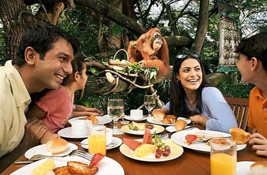 Ăn uống ở vườn thú Singapore Zoo - Nhà hàng Ah Meng