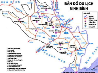 bản đồ du lịch ninh bình tràng an bái đính