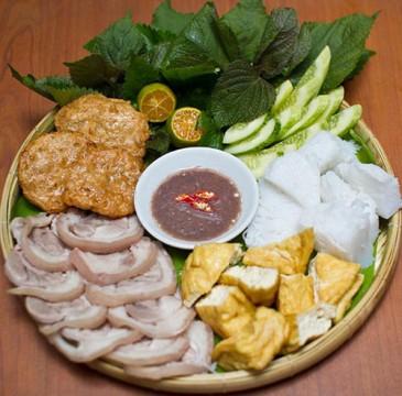 bún đậu mắm tôm du lịch Hà Nội