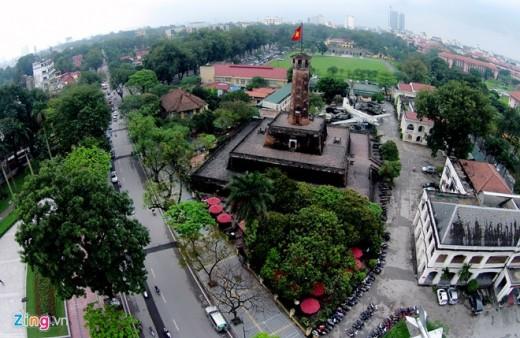 cột cờ hà nội du lịch Hà Nội