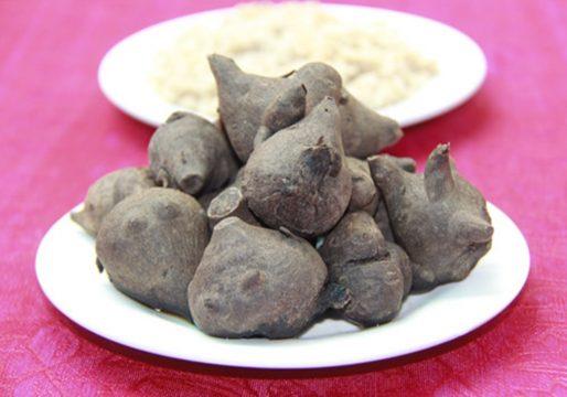 Củ ấu tẩu nguyên liệu cho món cháo thuốc độc Hà Giang