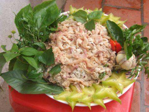 goi ca nhech Món ngon du lịch Sầm Sơn