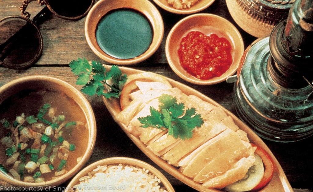 Cơm gà Hải Nam ( kinh nghiệm du lịch singapore )