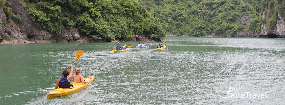 tour cát bà kayaking lặn san hô