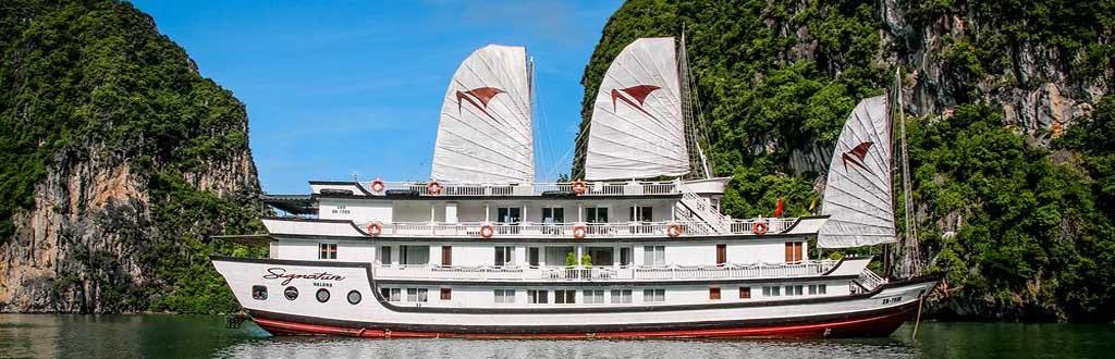 Tour Vịnh Hạ Long - Vịnh Bái Tử Long - Du thuyền SIGNATURE CRUISE 5 sao - 2 ngày 1 đêm