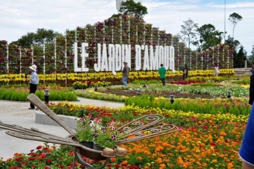 vuon hoa Le Jardin D'Amo Du lịch Bà Nà Hills